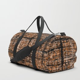 Textured Tweed - Orange Black Duffle Bag