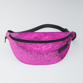 Magenta Seaturtle swimming in the ocean Fanny Pack