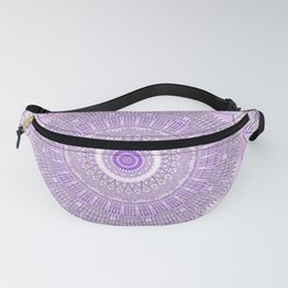 Lavender Purple Lace Mandala Fanny Pack