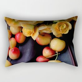 Cherry Gold Rectangular Pillow