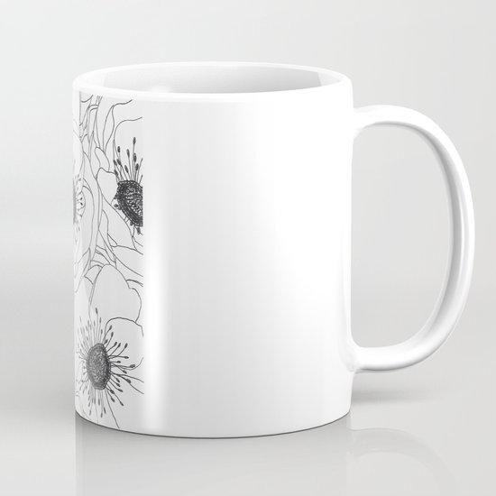 White Anemones Coffee Mug