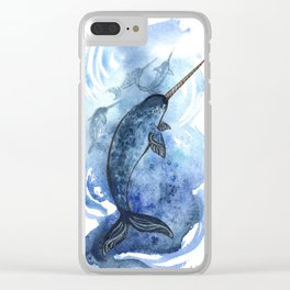 Narwhal Pod Arctic Waters Clear iPhone Case