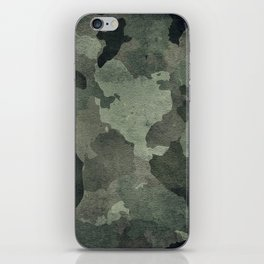 Dirty camouflage texture iPhone Skin