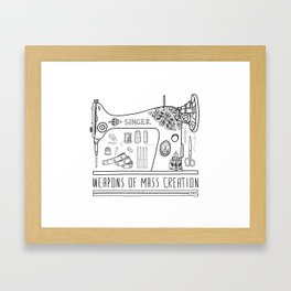 Weapons Of Mass Creation - Sewing Framed Art Print