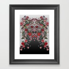 Flowers and Animals Framed Art Print