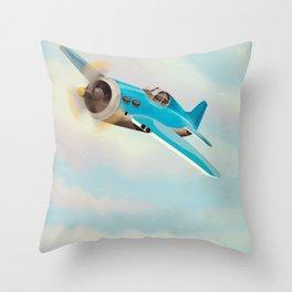 Vintage Aircraft Throw Pillow