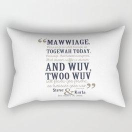steve and karla bedding Rectangular Pillow
