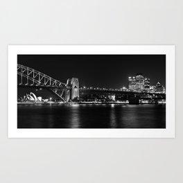 Sydney Australia B+W CityScape Art Print