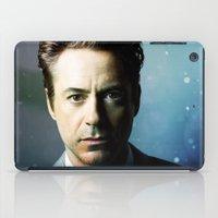robert downey jr iPad Cases featuring Robert Downey Jr 001 by TheTreasure