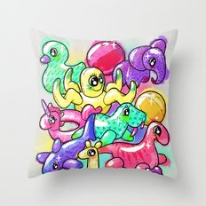 Inflatable Playground Throw Pillow