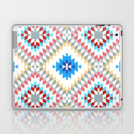 Colorful patchwork mosaic oriental kilim rug with traditional folk geometric ornament Laptop & iPad Skin