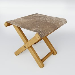 Cement Weathered Brown Abstract Photograph Folding Stool