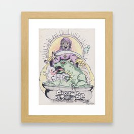Wizard spell Framed Art Print
