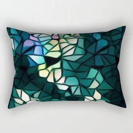 Heart Of Mosaic Rectangular Pillow