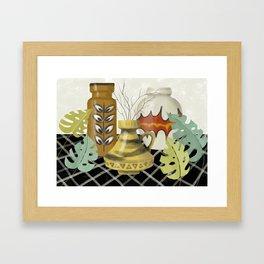 Mid Century Modern Love Framed Art Print