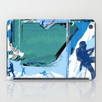climbing iPad Cases featuring Ice Climbing by Robin Curtiss