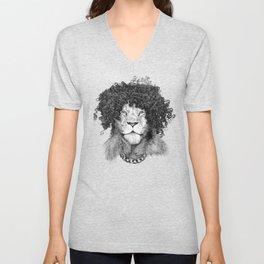 The Bling King Lion Unisex V-Neck