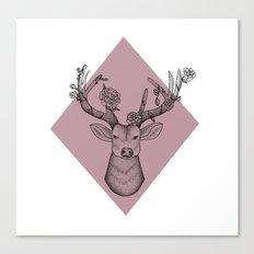 Pink Geometric Stag Canvas Print