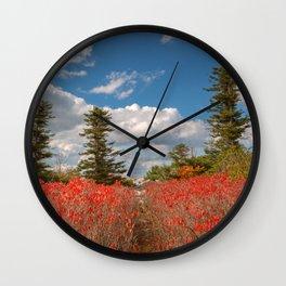 Autumn Huckleberry Wonderland Wall Clock