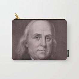 Vintage Benjamin Franklin Portrait Carry-All Pouch