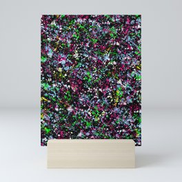 paint drop design - abstract spray paint drops 2 Mini Art Print