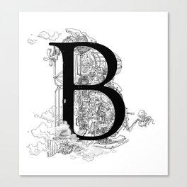 Alphabetanauts - B Canvas Print