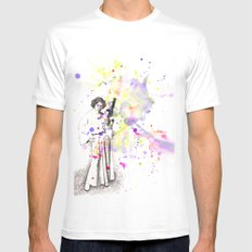 Princess Leia From Star Wars Mens Fitted Tee White MEDIUM