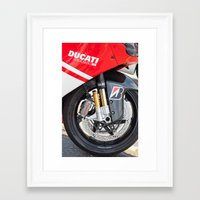ducati Framed Art Prints featuring Ducati by the_continuum