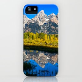Grand Teton - Reflection at Schwabacher's Landing iPhone Case