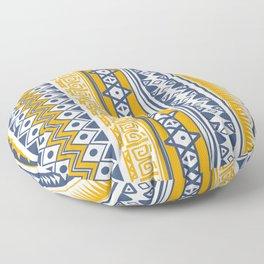 Moroccan Yellow Tribal Pattern Floor Pillow