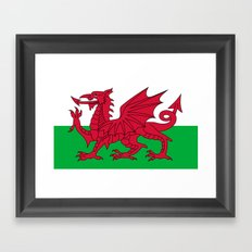 Flag of Wales - Hi Quality Authentic version Framed Art Print