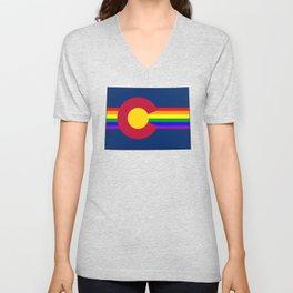 Colorado Pride! Unisex V-Neck
