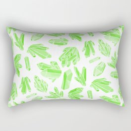 Crystals - Emerald Rectangular Pillow