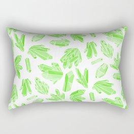 Crystals - Emerald Rectangular Pillow