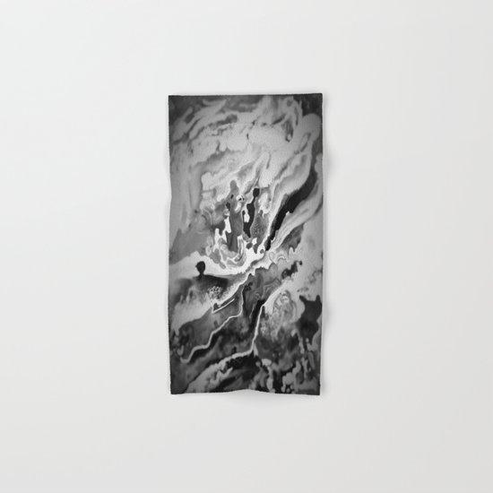 Deep Sea Black Focus Marble Hand & Bath Towel