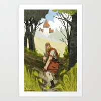 archer Art Prints featuring Archer by Joe Lillington
