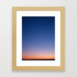 Richmond Sunset Sky & Moon Framed Art Print