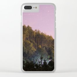 Daynight woodland activities Clear iPhone Case
