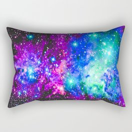 Fox Fur Nebula Galaxy Pink Purple Blue Rectangular Pillow
