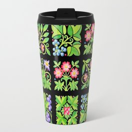 Tudor Flower Parterre Travel Mug