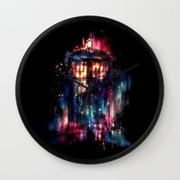 threadless Wall Clocks featuring All of Time and Space by Alice X. Zhang