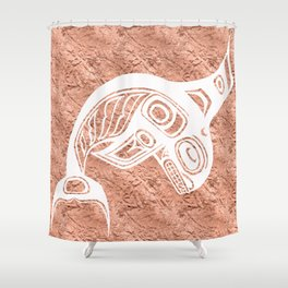 Spirit Keét Copper Shower Curtain