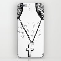 religion iPhone & iPod Skins featuring Fashionable religion by IvaDim