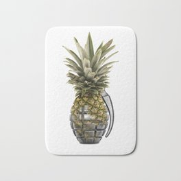 Pineapple Grenade Bath Mat