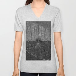 Into the Darkness by Pierre Blanchard Unisex V-Neck