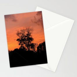 Tree on Fire Stationery Cards