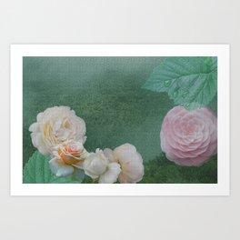 Misty Garden Art Print