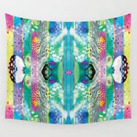 kaleidoscope Wall Tapestries featuring kaleidoscope by Xenia Pirovskikh
