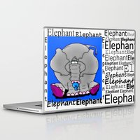 baby elephant Laptop & iPad Skins featuring Elephant(Baby) by Vivian Fortunato