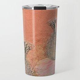 Rose-Gold Cactus Flower Desert Travel Mug